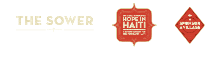 Sower Masthead, Haiti Benefit Concert, Sponsor A Village Logo